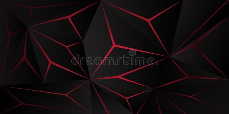 αφηρημένο polygonal σκούρο κόκκινο υπόβαθρο τριγώνων ελεύθερη απεικόνιση δικαιώματος