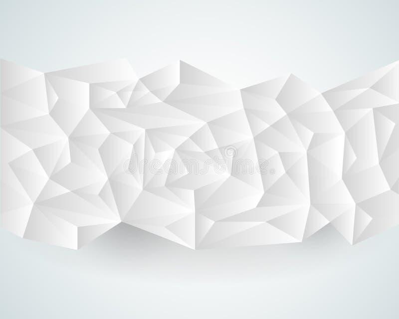 Αφηρημένο polygonal υπόβαθρο εγγράφου διανυσματική απεικόνιση
