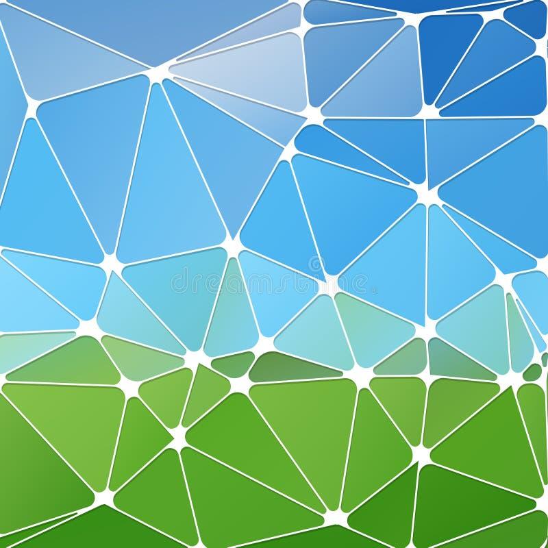 Αφηρημένο polygonal υπόβαθρο Φουτουριστική διεπαφή τεχνολογίας Vecto διανυσματική απεικόνιση
