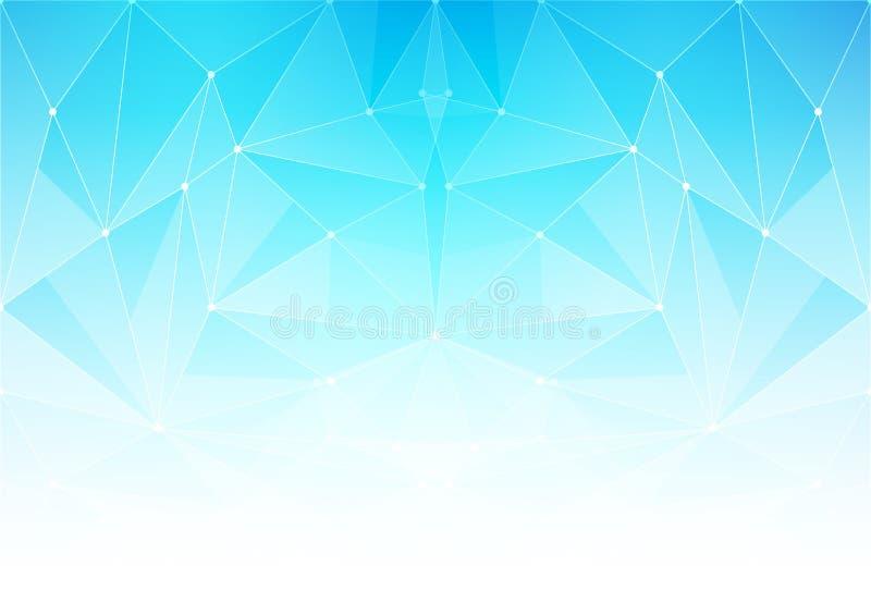 Αφηρημένο polygonal φωτεινό υπόβαθρο με τη σύνδεση των σημείων και των γραμμών διανυσματική απεικόνιση