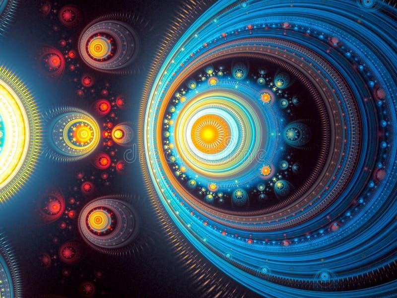 Αφηρημένο psychedelic υπόβαθρο χάους - που παράγεται ψηφιακά imag διανυσματική απεικόνιση