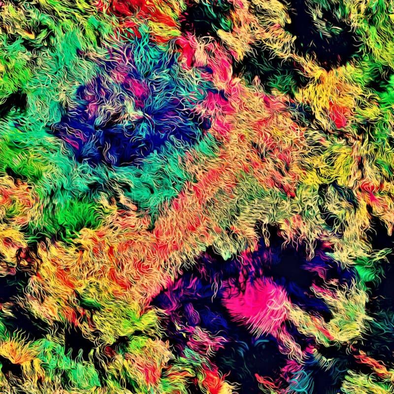 Αφηρημένο psychedelic υπόβαθρο χαοτικά τακτοποιημένος χρωματισμένος συνδυασμένος, Ιστός των λεπτών γραμμών ελεύθερη απεικόνιση δικαιώματος