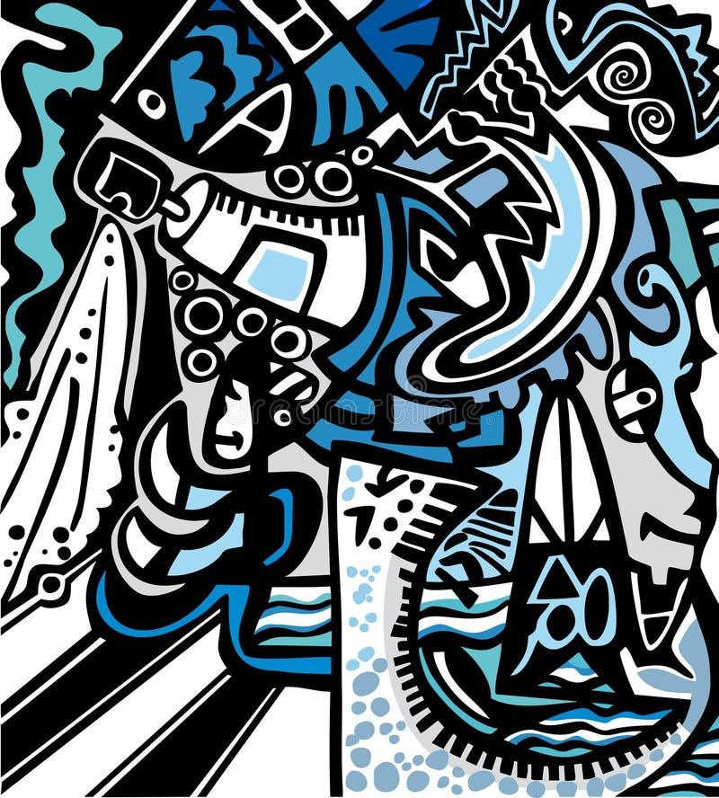 Αφηρημένο psychedelic υπόβαθρο απεικόνιση αποθεμάτων