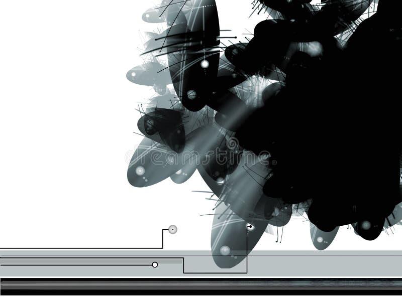 αφηρημένο sci FI ανασκόπησης διανυσματική απεικόνιση