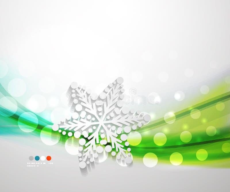 Αφηρημένο snowflake κυμάτων Χριστουγέννων υπόβαθρο διανυσματική απεικόνιση