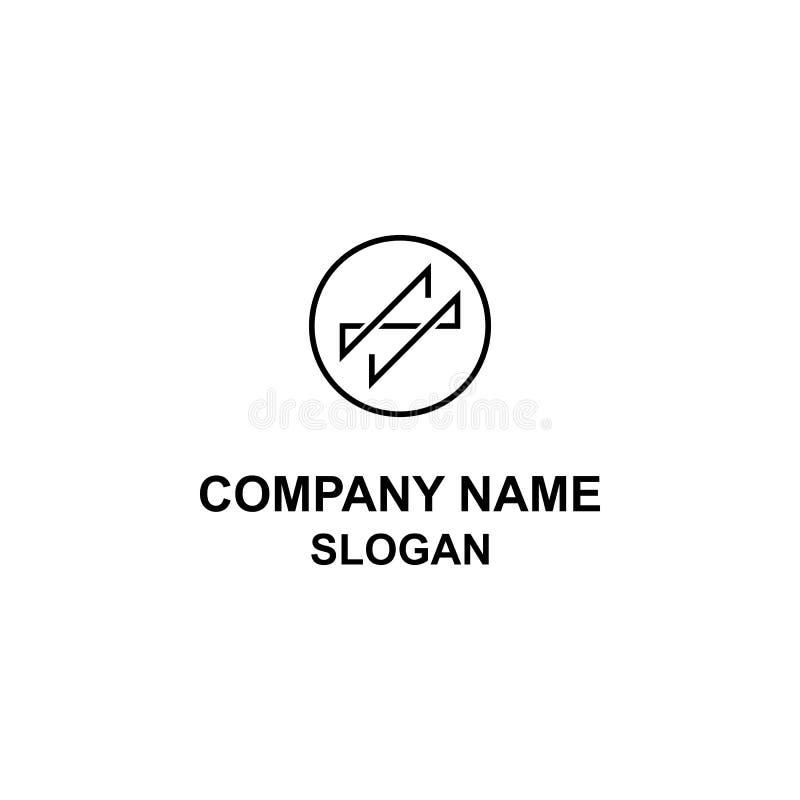 Αφηρημένο SS λογότυπο κύκλων επιστολών αρχικό ελεύθερη απεικόνιση δικαιώματος