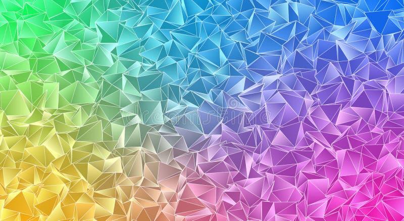 Αφηρημένο triangulated polygonal υπόβαθρο απεικόνιση αποθεμάτων