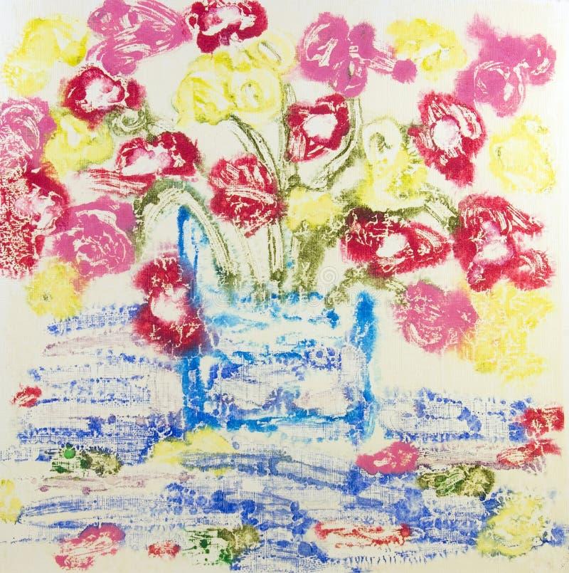 αφηρημένο vase ζωγραφικής λο&u ελεύθερη απεικόνιση δικαιώματος