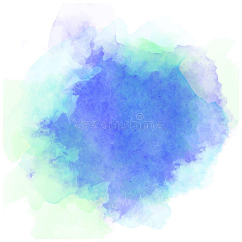 Αφηρημένο watercolor στο άσπρο ράντισμα χρώματος του /The υποβάθρου στο έγγραφο ελεύθερη απεικόνιση δικαιώματος