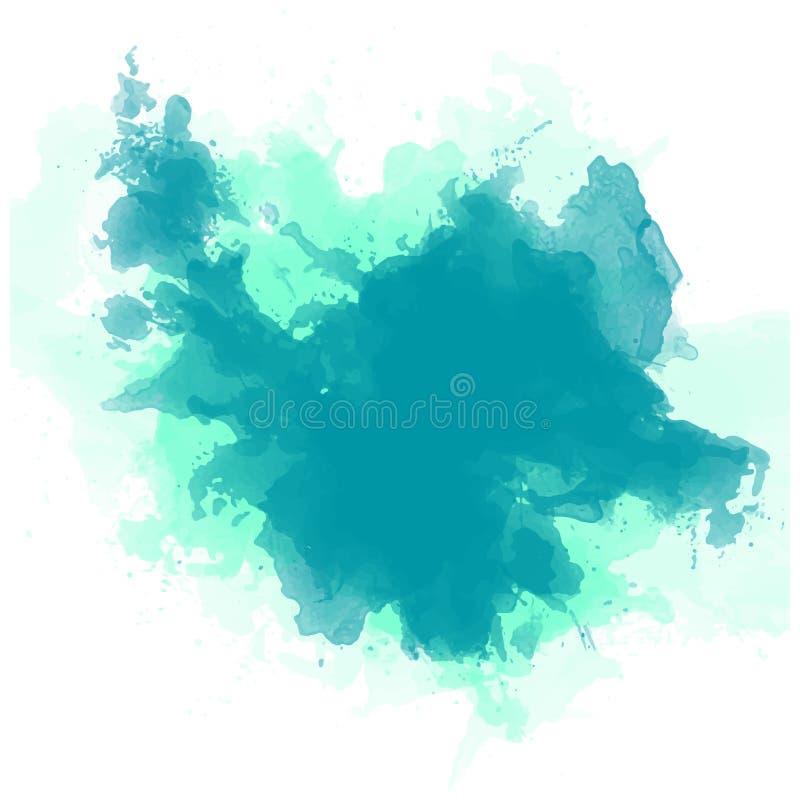 Αφηρημένο watercolor στο άσπρο ράντισμα χρώματος του /The υποβάθρου στο έγγραφο απεικόνιση αποθεμάτων