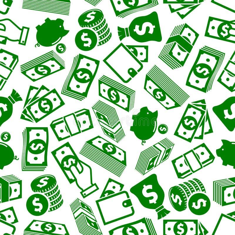 Αφθονία χρημάτων και άνευ ραφής σχέδιο αποταμίευσης διανυσματική απεικόνιση