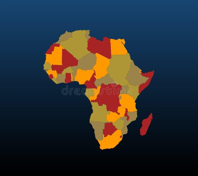 Αφρική που χρωματίζεται διανυσματική απεικόνιση