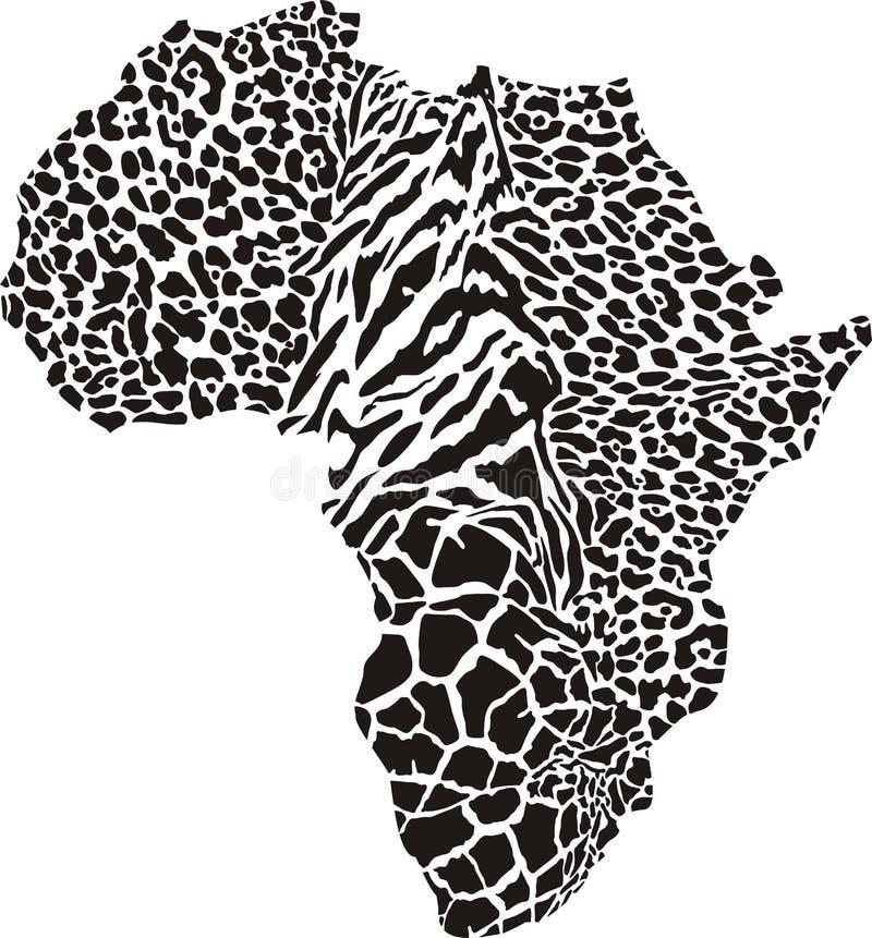 Αφρική σε μια ζωική κάλυψη ελεύθερη απεικόνιση δικαιώματος
