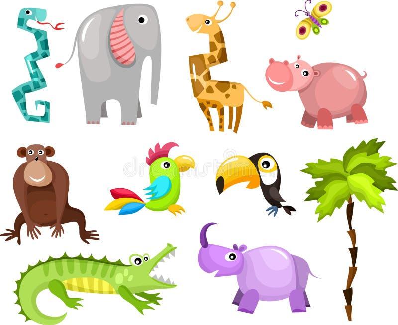 αφρικανικά ζώα ελεύθερη απεικόνιση δικαιώματος