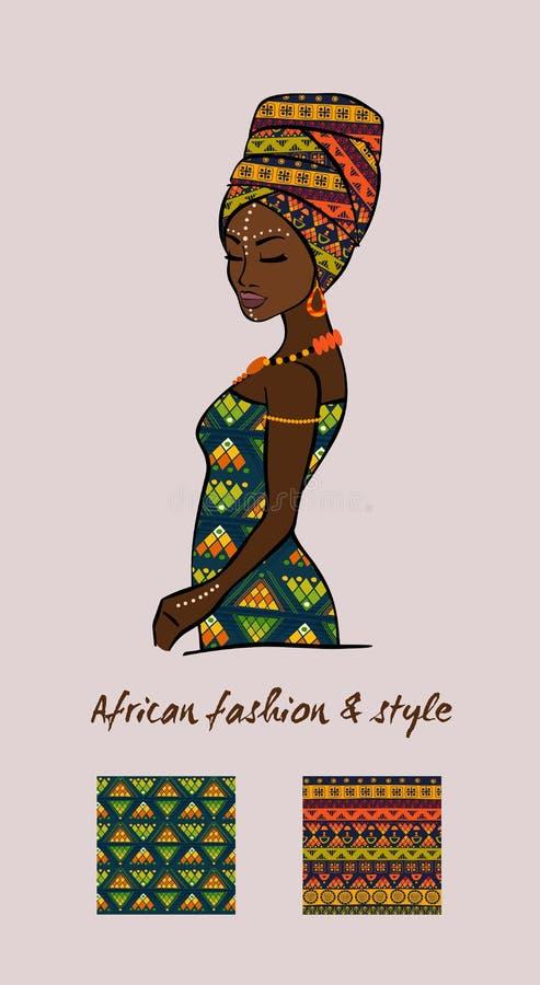 Αφρικανικά μόδα και ύφος διανυσματική απεικόνιση