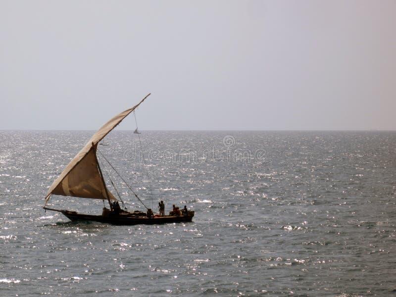 Αφρικανική αλιεία Dhow στοκ φωτογραφίες