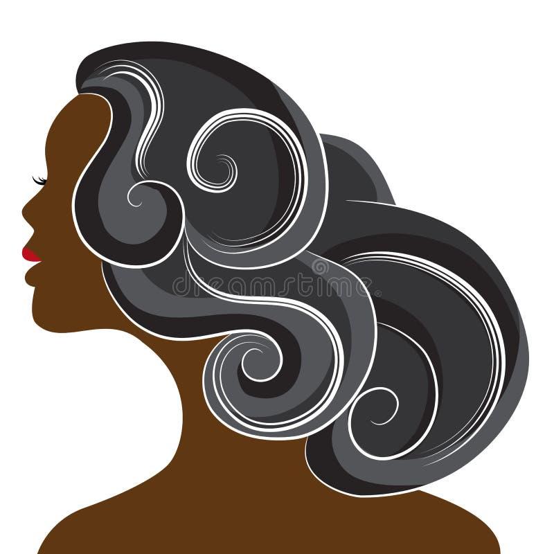 αφρικανική γυναίκα διανυσματική απεικόνιση