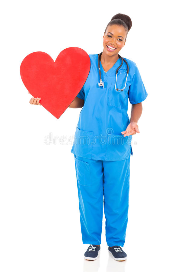 Αφρικανική καρδιά γιατρών στοκ εικόνες με δικαίωμα ελεύθερης χρήσης