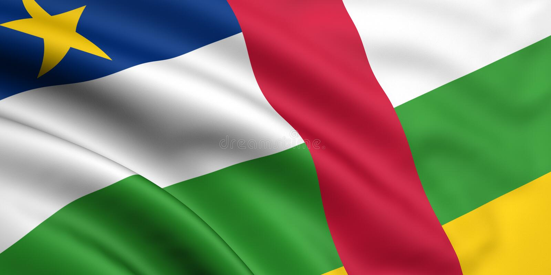 αφρικανική κεντρική δημοκρατία σημαιών διανυσματική απεικόνιση