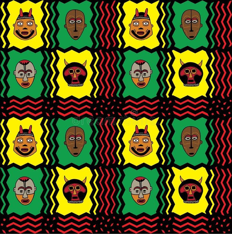 αφρικανική μάσκα ανασκόπησης ελεύθερη απεικόνιση δικαιώματος