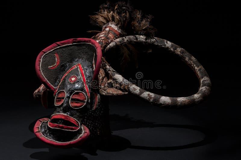 Αφρικανική μάσκα του υφάσματος, παραδοσιακή στοκ εικόνες με δικαίωμα ελεύθερης χρήσης