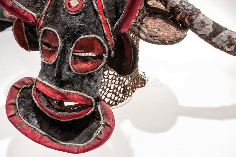 Αφρικανική μάσκα του υφάσματος, παραδοσιακή στοκ εικόνες