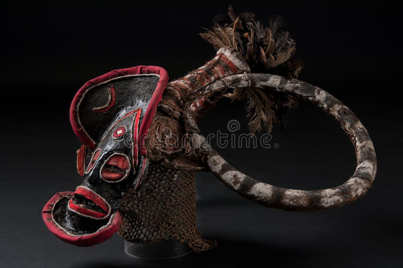 Αφρικανική μάσκα του υφάσματος, παραδοσιακή στοκ φωτογραφίες