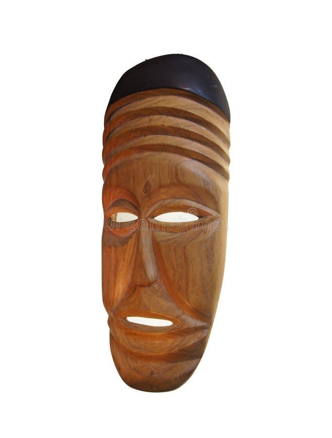 Αφρικανική ξύλινη μάσκα, στοκ φωτογραφίες