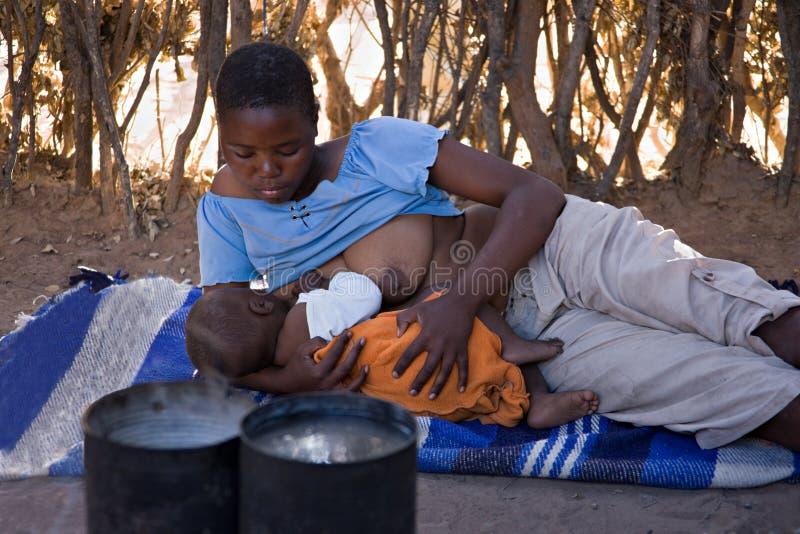 αφρικανική οικογένεια στοκ εικόνα