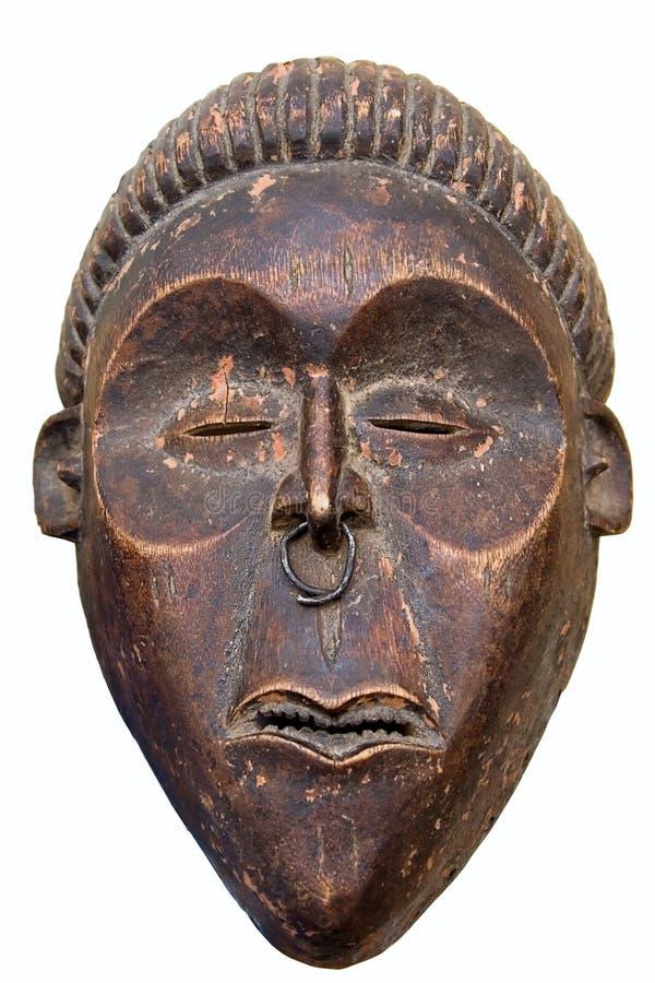 αφρικανική παλαιά μάσκα στοκ εικόνα