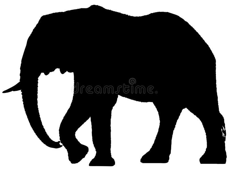 αφρικανική σκιαγραφία ε&lamb διανυσματική απεικόνιση