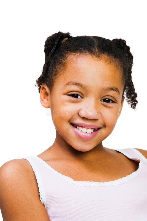 αφρικανική στάση κοριτσιών της Αμερικής στοκ εικόνες