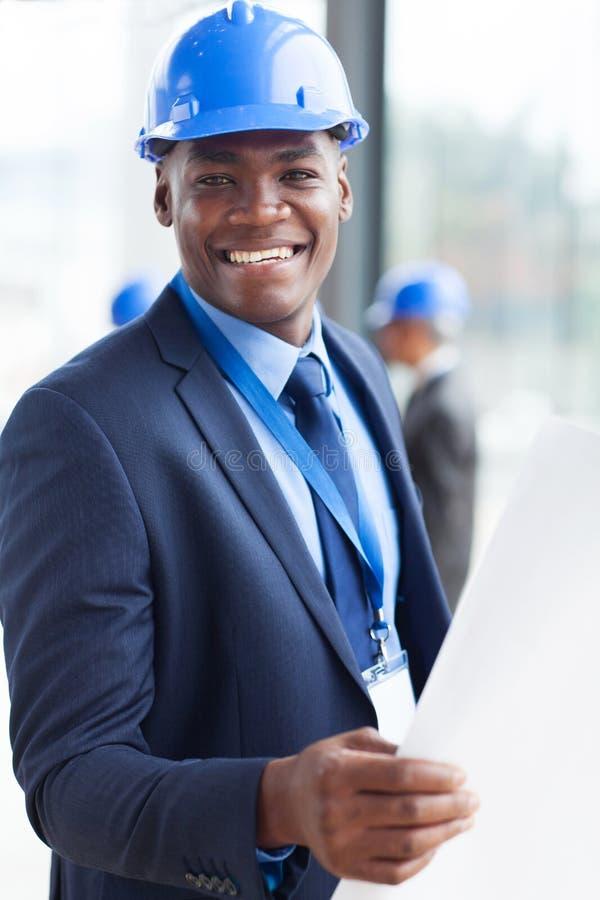 Αφρικανικός διευθυντής κατασκευής στοκ εικόνα με δικαίωμα ελεύθερης χρήσης