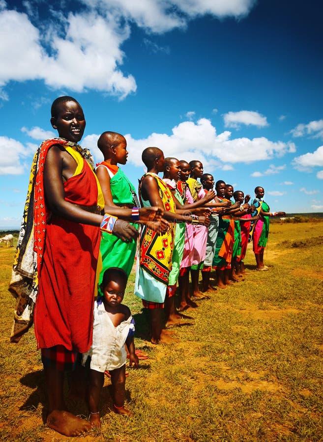 Αφρικανικός χορός ατόμων στοκ εικόνες με δικαίωμα ελεύθερης χρήσης