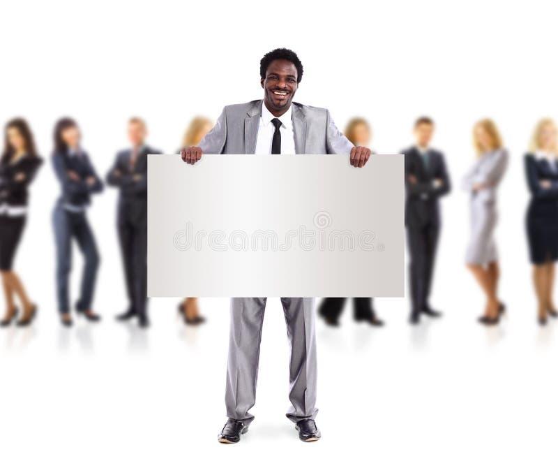 αφρικανικό άτομο εκμετάλλευσης επιχειρηματικών μονάδων εμβλημάτων στοκ φωτογραφίες με δικαίωμα ελεύθερης χρήσης