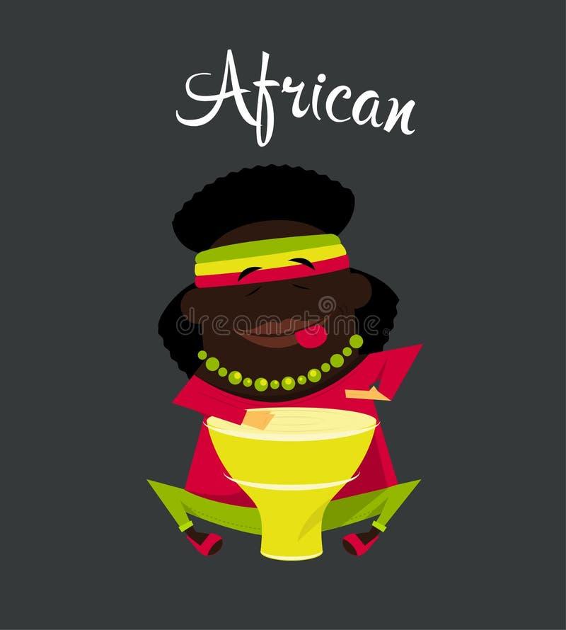 Αφρικανικό άτομο των Μαύρων ή νέγρων, χαρακτήρας, Αφρική ελεύθερη απεικόνιση δικαιώματος