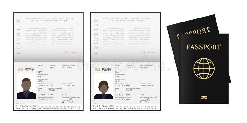Αφρικανικό ή αφροαμερικανός διαβατήριο απεικόνιση αποθεμάτων