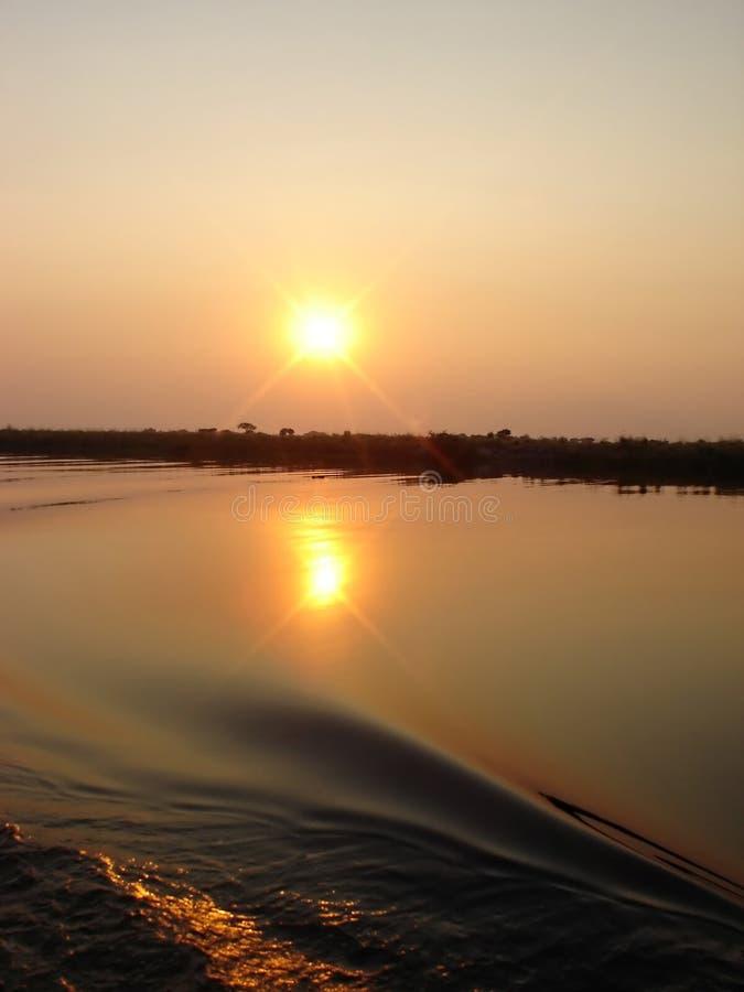 αφρικανικό ηλιοβασίλεμα στοκ εικόνες