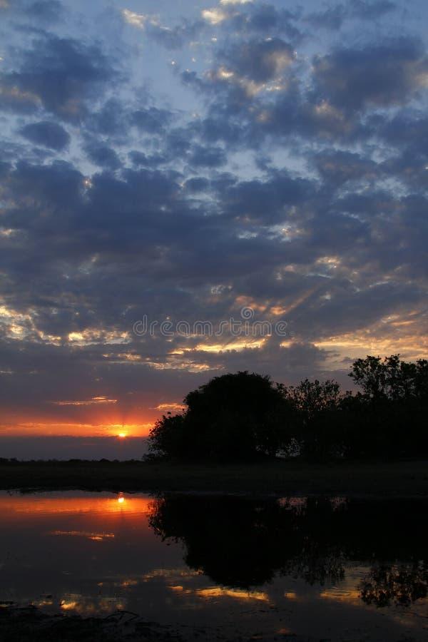 Αφρικανικό ηλιοβασίλεμα Sundowner στοκ φωτογραφία με δικαίωμα ελεύθερης χρήσης