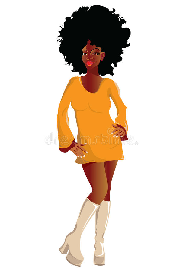 αφρικανικό κορίτσι απεικόνιση αποθεμάτων
