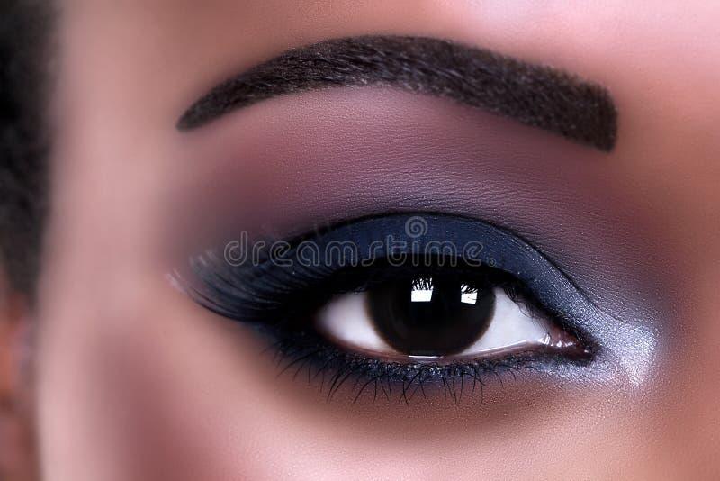 Αφρικανικό μάτι Makeup στοκ φωτογραφία με δικαίωμα ελεύθερης χρήσης