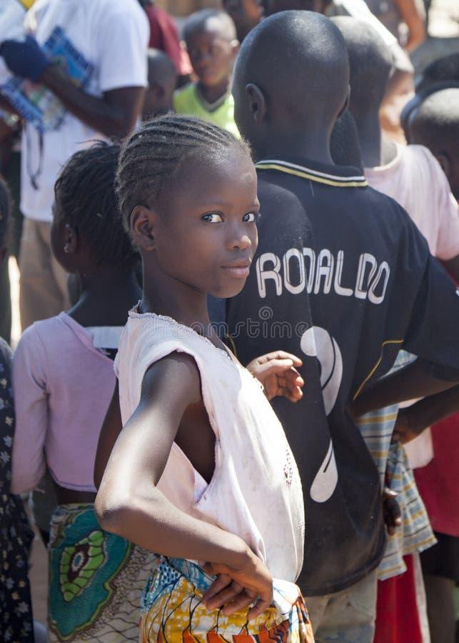 αφρικανικό Μποτσουάνα πορτρέτο παιδιών της Αφρικής στοκ φωτογραφία με δικαίωμα ελεύθερης χρήσης
