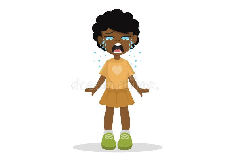 Αφρικανικό μόνιμο να φωνάξει κοριτσιών στοκ εικόνα