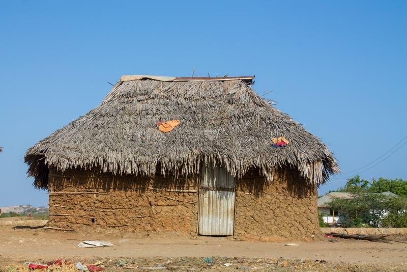 Αφρικανικό παραδοσιακό σπίτι στοκ φωτογραφίες