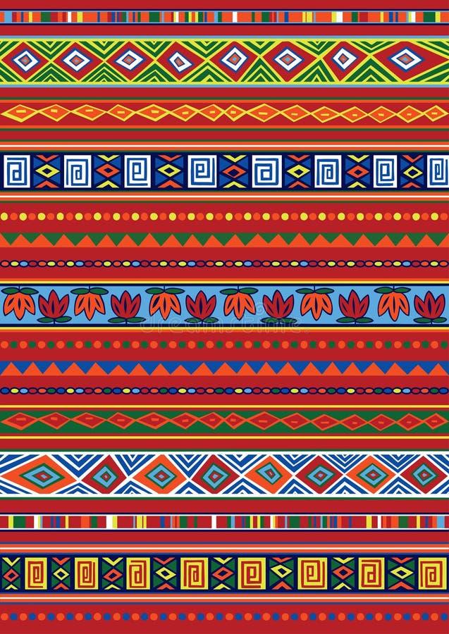 Αφρικανικό πρότυπο διανυσματική απεικόνιση