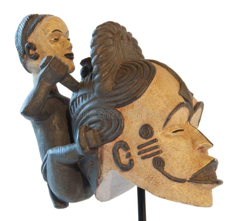 αφρικανικό σύμβολο γλυπ& στοκ φωτογραφίες