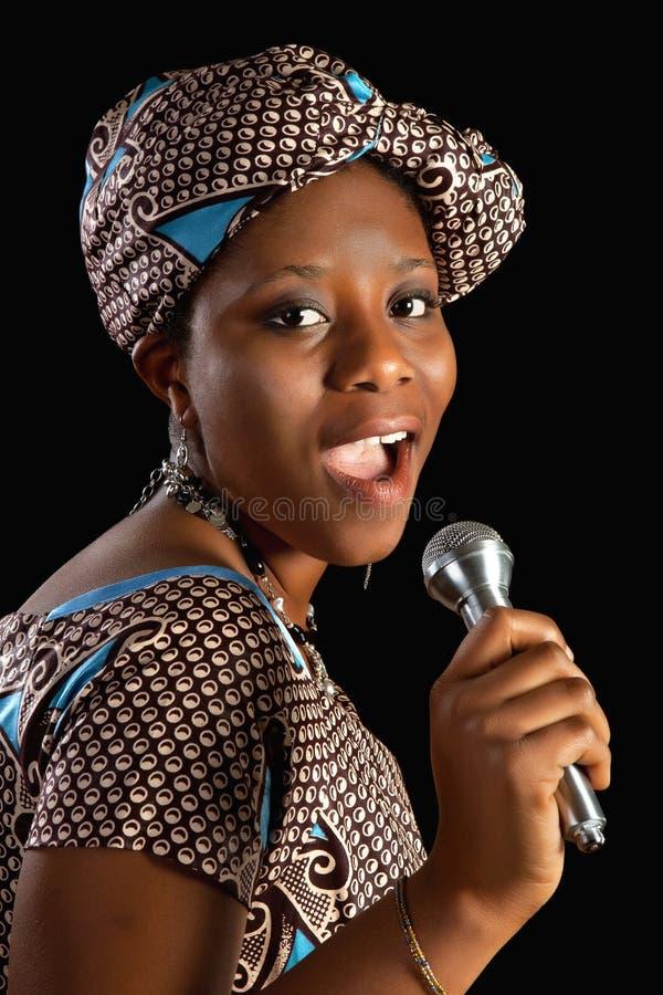 Αφρικανικό τραγούδι στοκ εικόνες