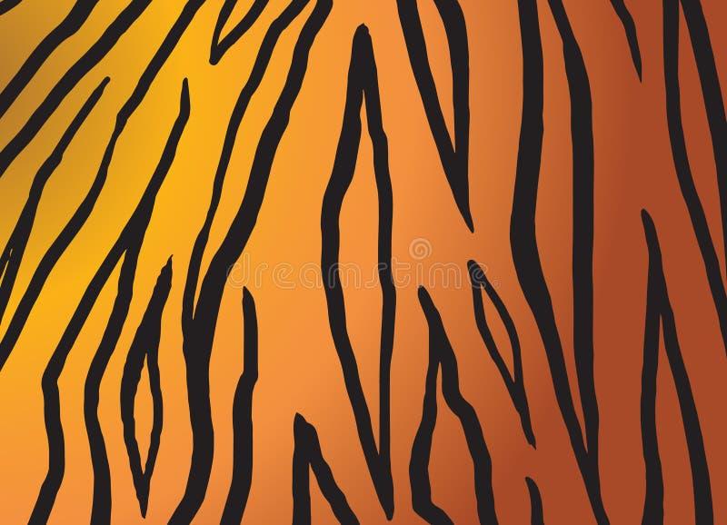 Αφρικανικό υπόβαθρο δερμάτων τιγρών απεικόνιση αποθεμάτων