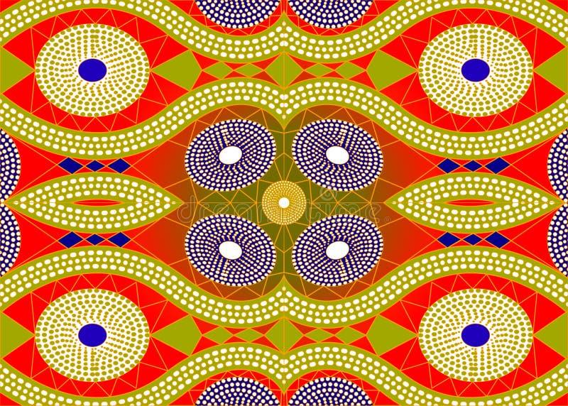 Αφρικανικό ύφασμα τυπωμένων υλών, εθνική χειροποίητη διακόσμηση για εθνικών και φυλετικών μοτίβων γεωμετρικά στοιχεία σας τα σχεδ ελεύθερη απεικόνιση δικαιώματος
