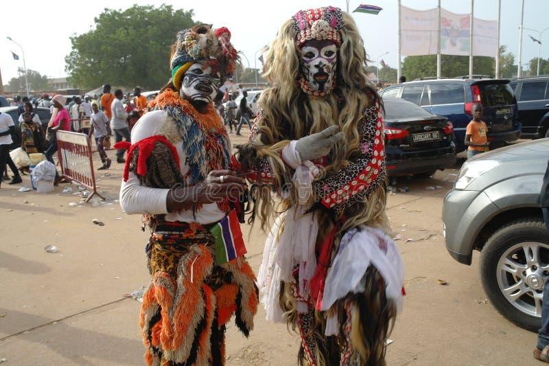 Αφρικανικό Kankurang στοκ φωτογραφία